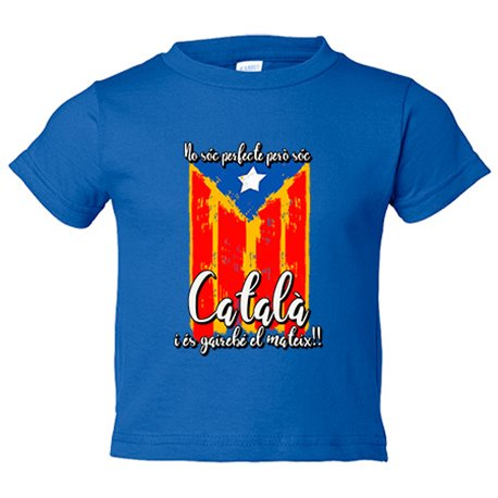 Camiseta niño no soc perfecte pero soc català
