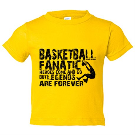 Camiseta niño Basketball Fanatic Legends Are Forever