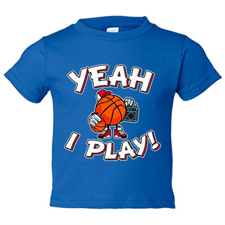 Camiseta niño Yeah I Play Basketball
