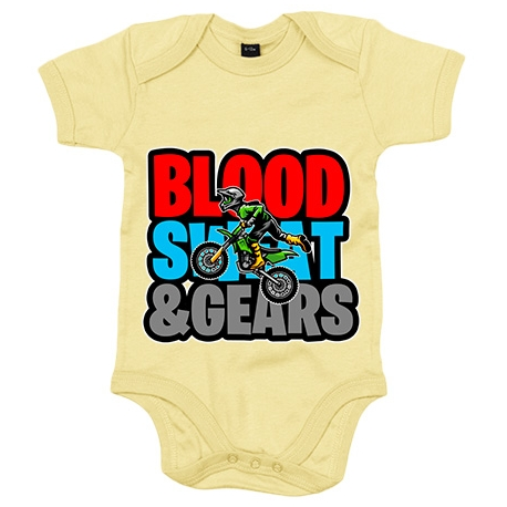 Body bebé Motocross Blood Sweat And Gears