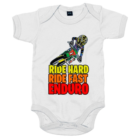 Body bebé Motocross Ride Hard Ride Fast Enduro